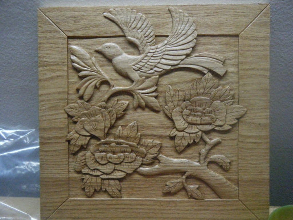 Handcarved wooden relief nature carvings by ervin maier