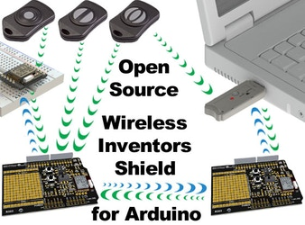 Open Source Wireless Inventors Shield for Arduino