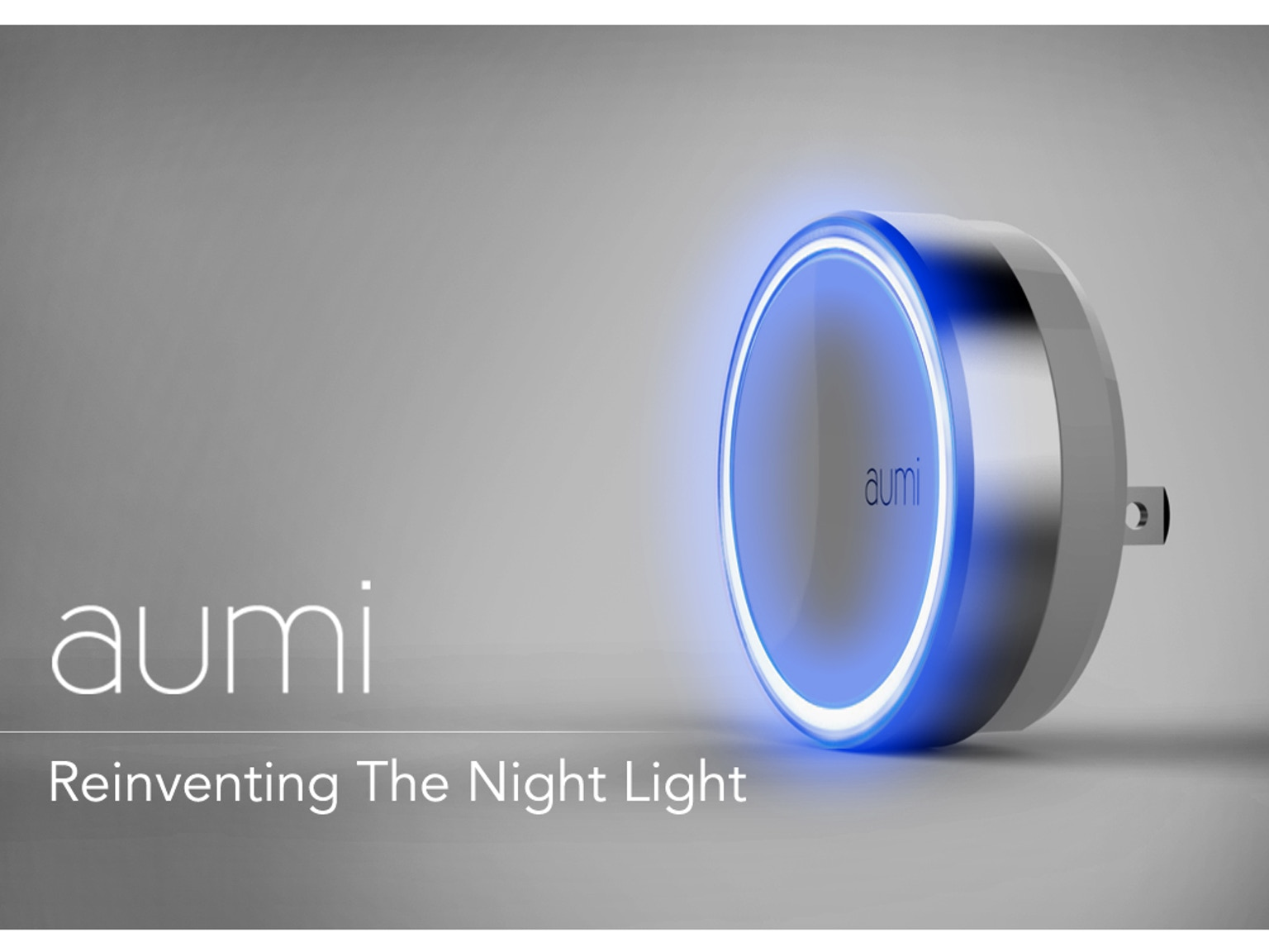 Aumi is a bluetooth enabled, multi-color, rechargeable LED night light ...