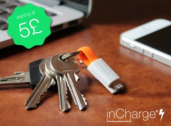inCharge Bolt - The smallest keyring cable on steroids!