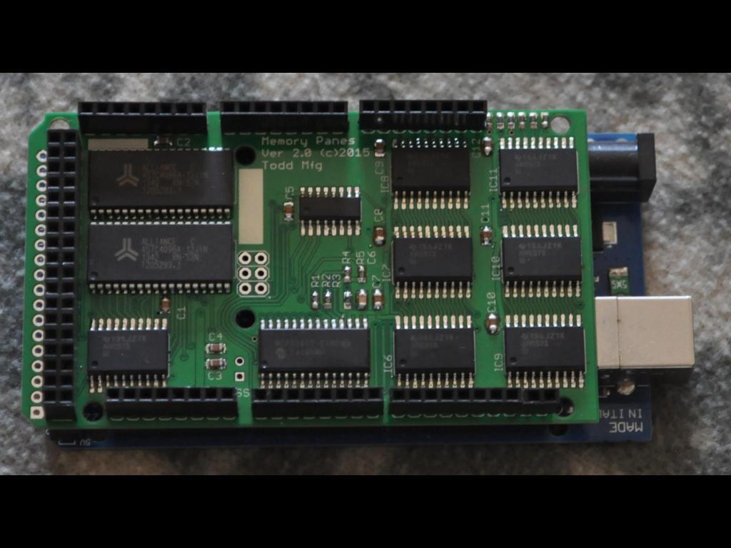 Mega expansion ram arduino compatible xmem by chuck
