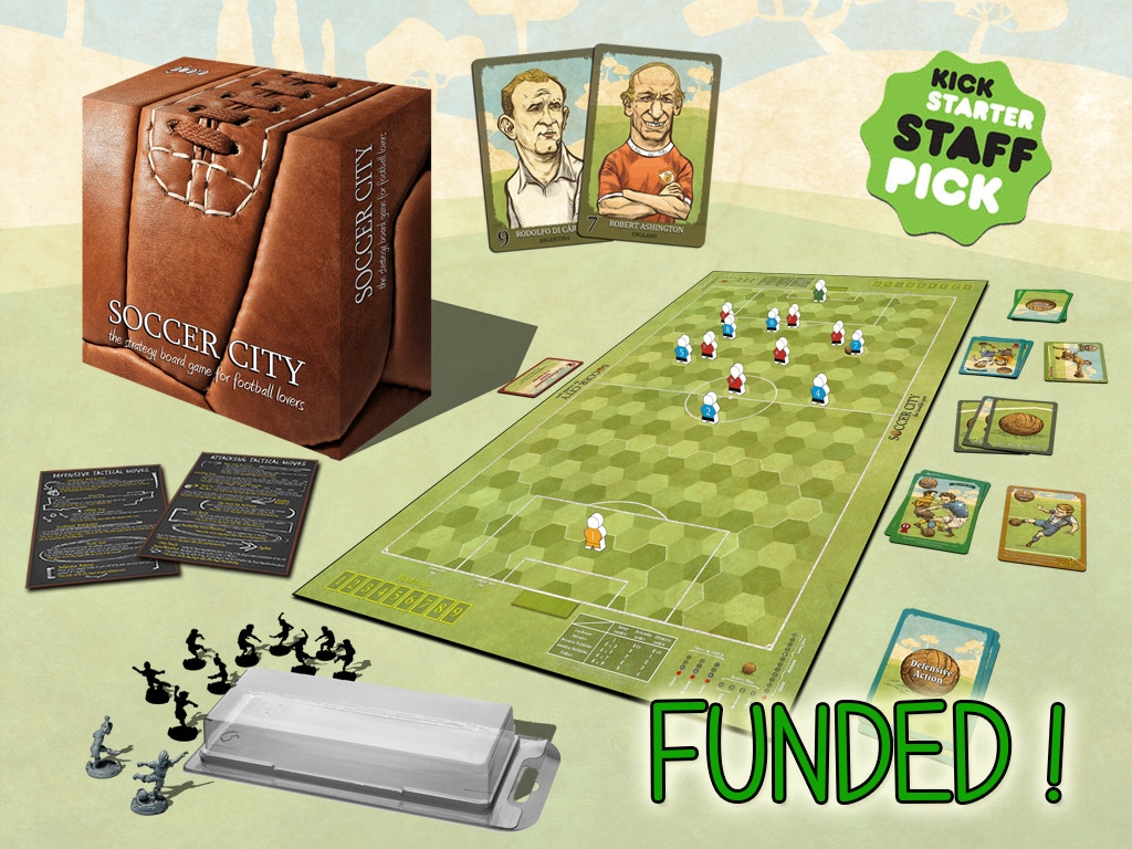 SOCCER CITY, the strategy board game for football lovers miniatura de video del proyecto