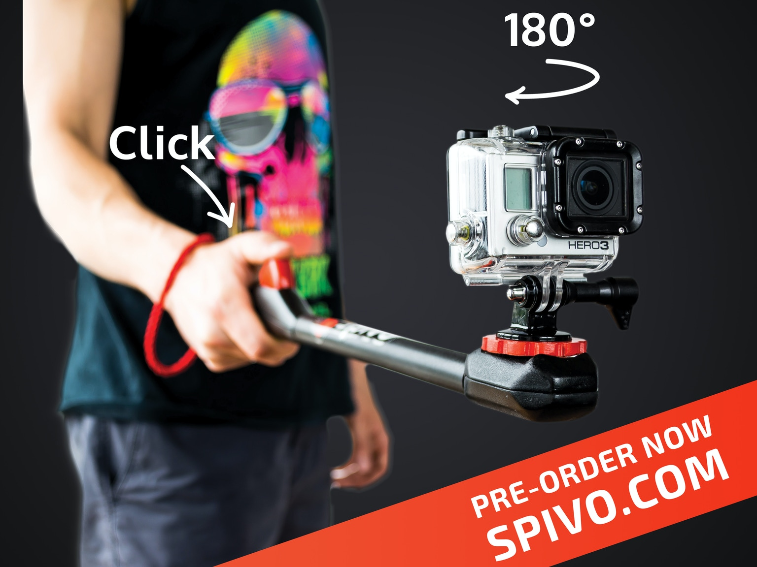 spivo the ultimate selfie stick for gopro iphone and more by spivo kicks. Black Bedroom Furniture Sets. Home Design Ideas