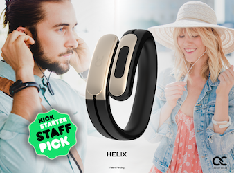 HELIX: Wearable Cuff with Stereo Bluetooth Headphones