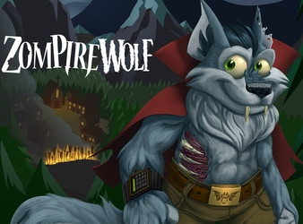 ZompireWolf - a Zombie/Vampire/Werewolf hybrid!