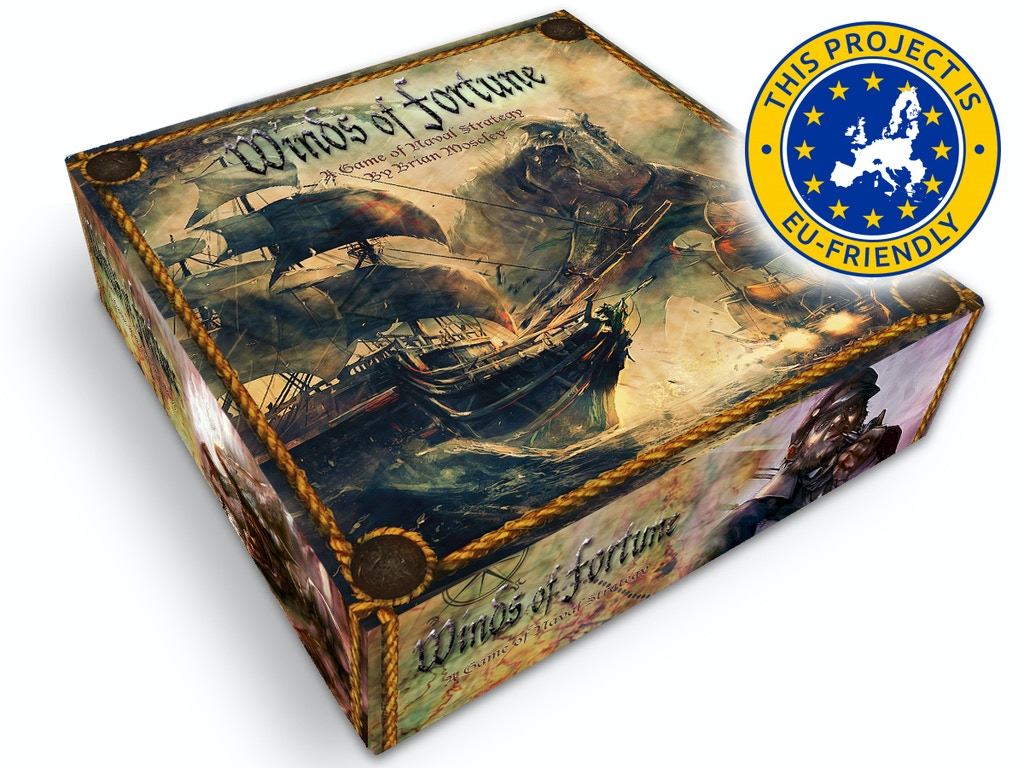 Winds of Fortune - Naval Strategy Board/Card Game miniatura de video del proyecto