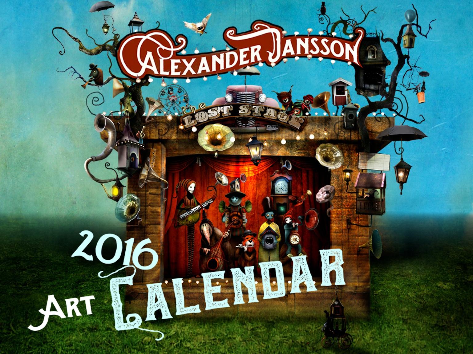 Art Reach Calendar : Alexander jansson art calendar by