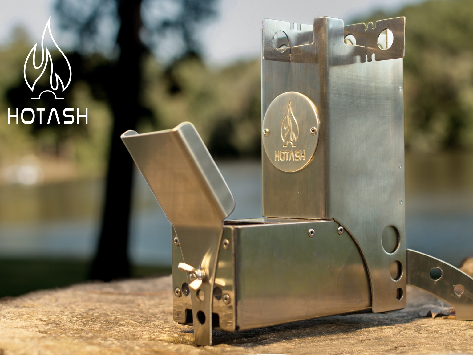 hot ash camping gear wood burning rocket stove by hot ash