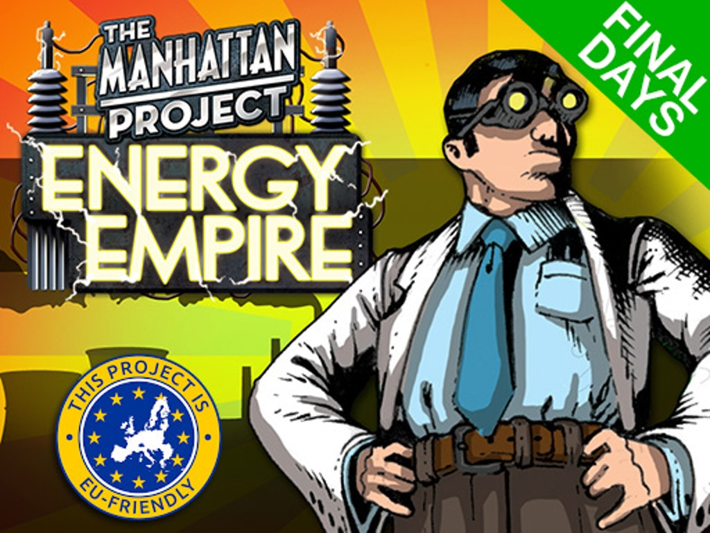 The Manhattan Project: Energy Empire board game miniatura de video del proyecto