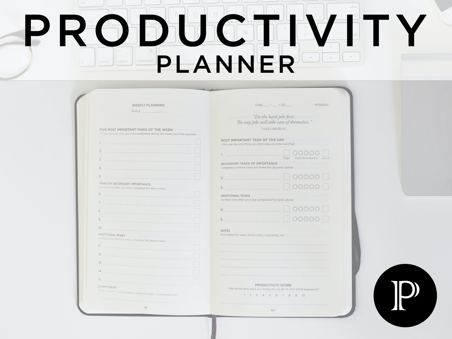 Minute Journal Productivity Planner High Existence - Productivity planner review