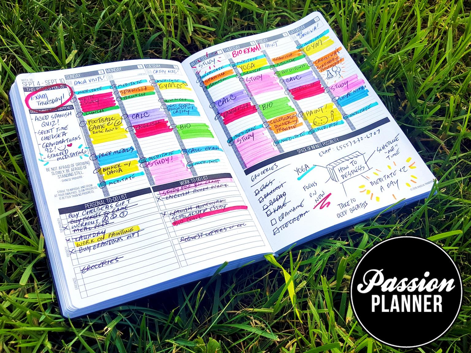 Kickstarter Calendar Planner : Passion planner get one give by angelia trinidad
