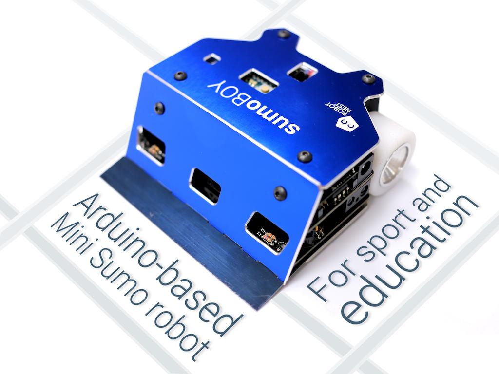 Arduino based mini sumo robot on kickstarter page