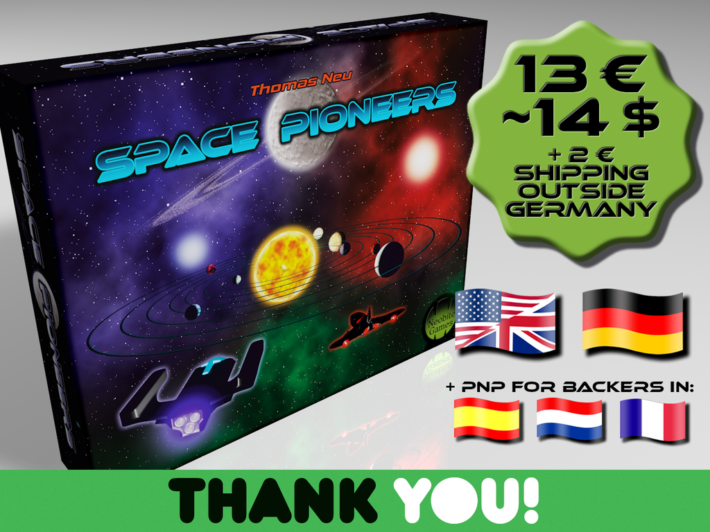 Space Pioneers - A Competitive Card Game for 1-5 Players miniatura de video del proyecto