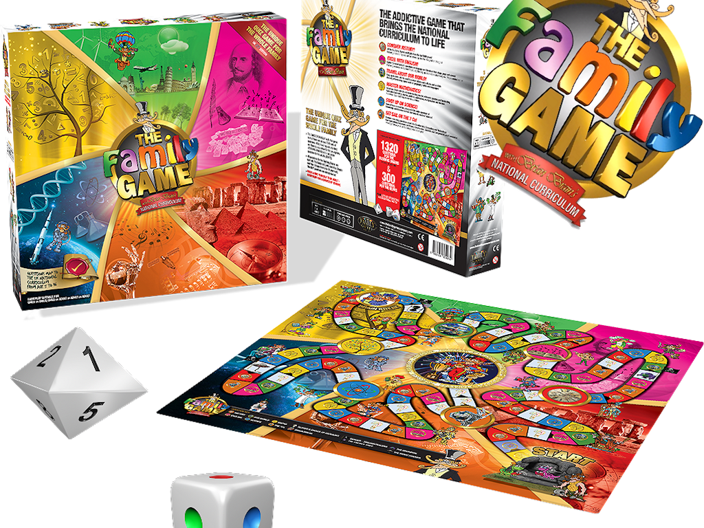 The family game an educational board game for kids for Table games for adults