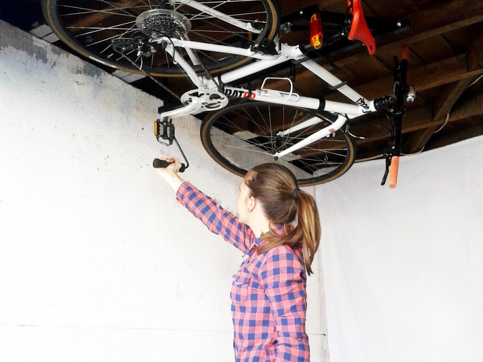 Hide A Ride Ceiling Bike Rack By Brian Drews Kickstarter