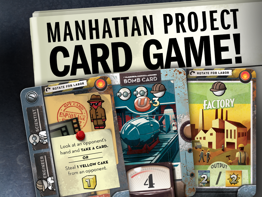 The Manhattan Project: Chain Reaction card game miniatura de video del proyecto