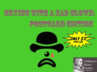 Crying With A Sad Clown: Postcard Edition