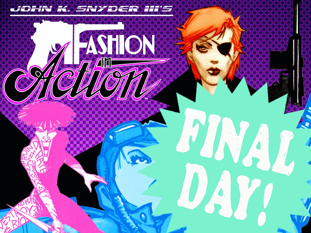 A reprint of the lost 1980s comic series Fashion In Action by John K Snyder III!