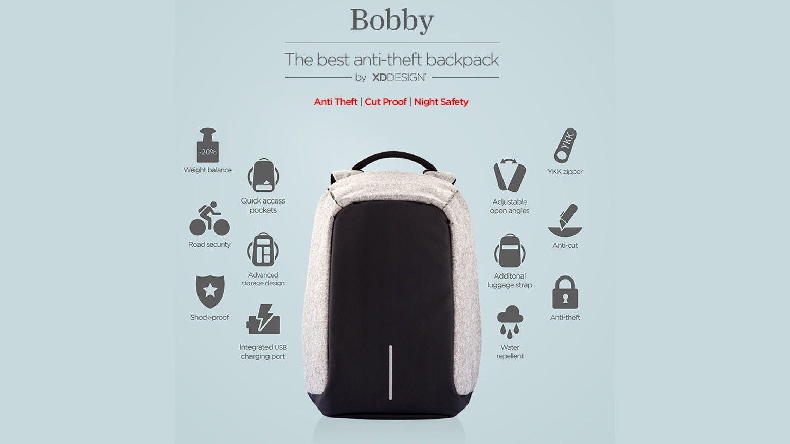 Art Grid Calendar : Bobby the best anti theft backpack by xd design