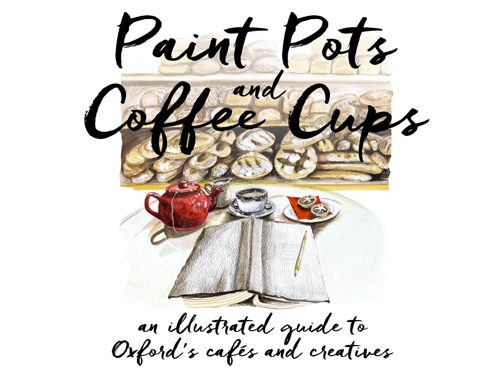 paint pots and coffee cups