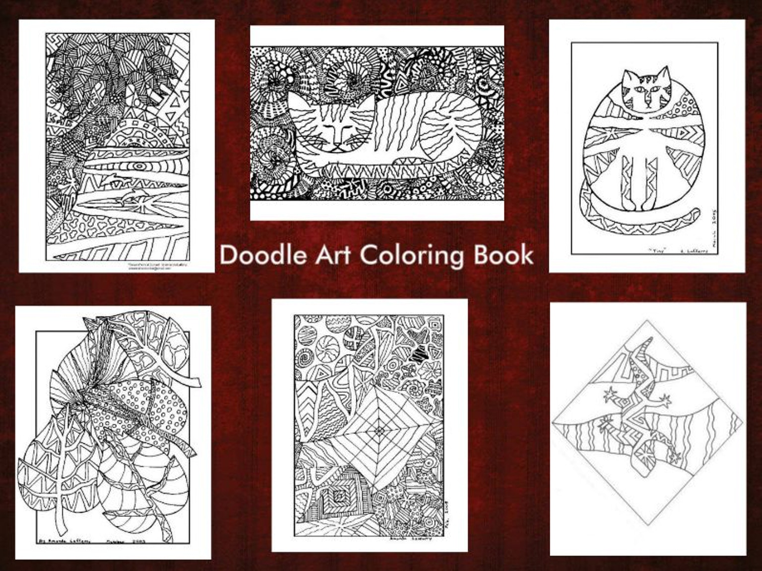 Doodle Art Coloring Book By Amanda The Doodler Kickstarter