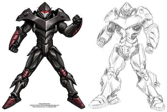 MECHA ZONE robot art book stomping your way! by David A
