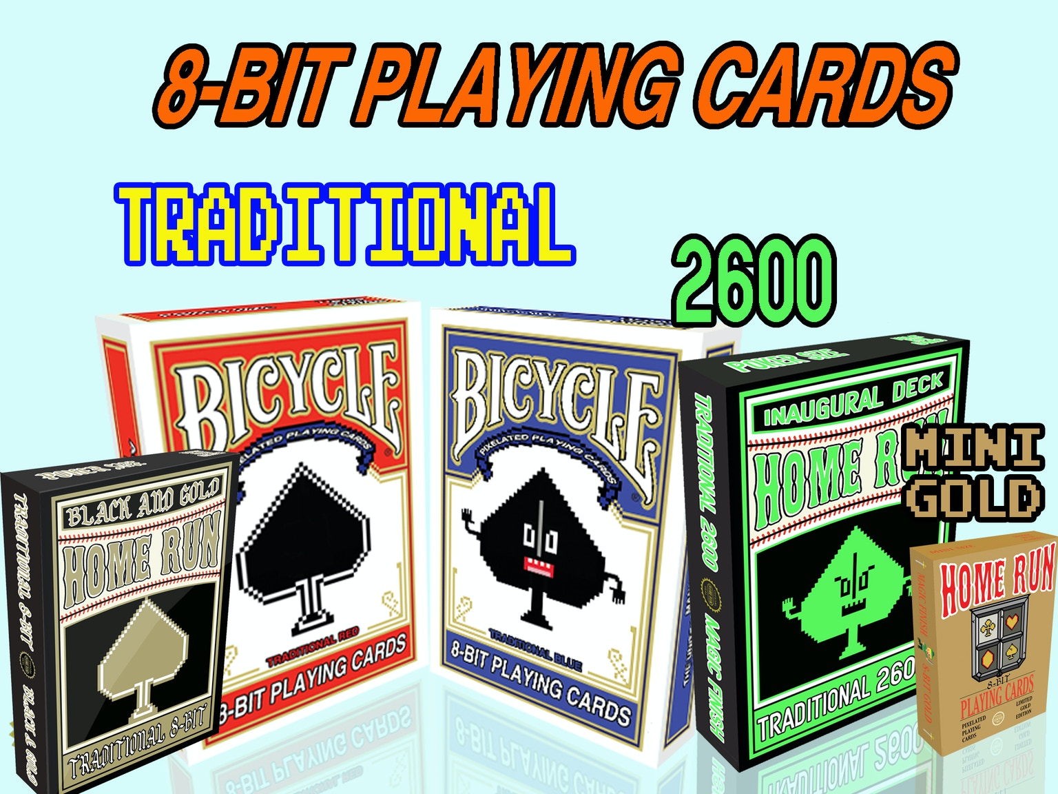 Kickstarter: Home Run Games' Bicycle 8-Bit Playing Card
