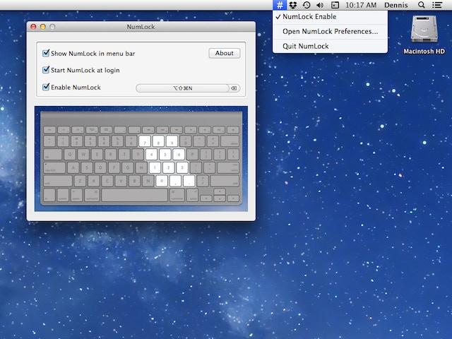 numlock os x app to enable number lock on mac keyboards by denvog kickstarter. Black Bedroom Furniture Sets. Home Design Ideas