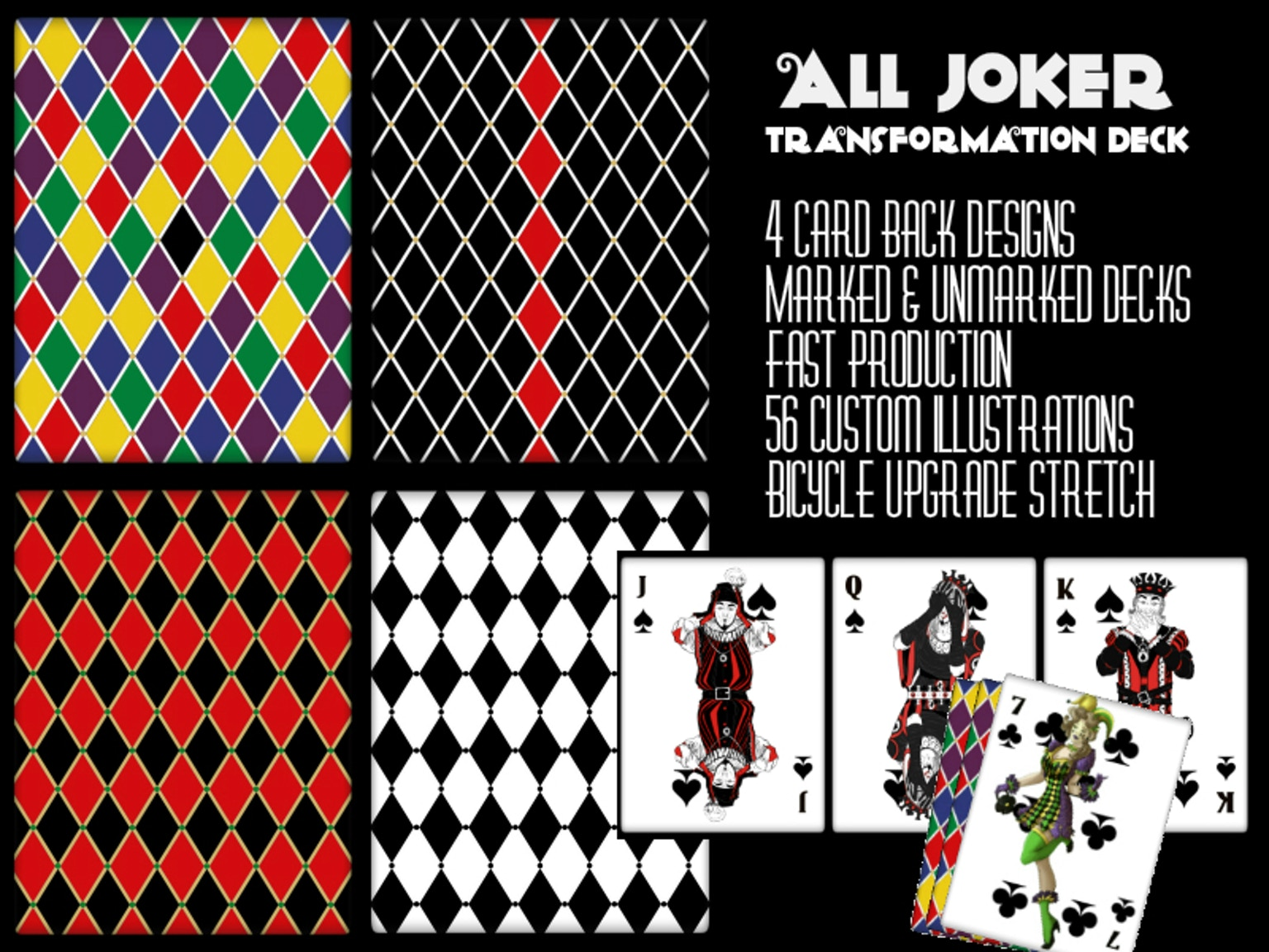 All Jokers Transformation Playing Cards by Man Made Games ...