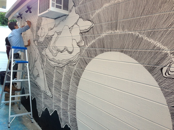 Another kind of sunrise by gregory rogove diana garcia for Brandon boyd mural