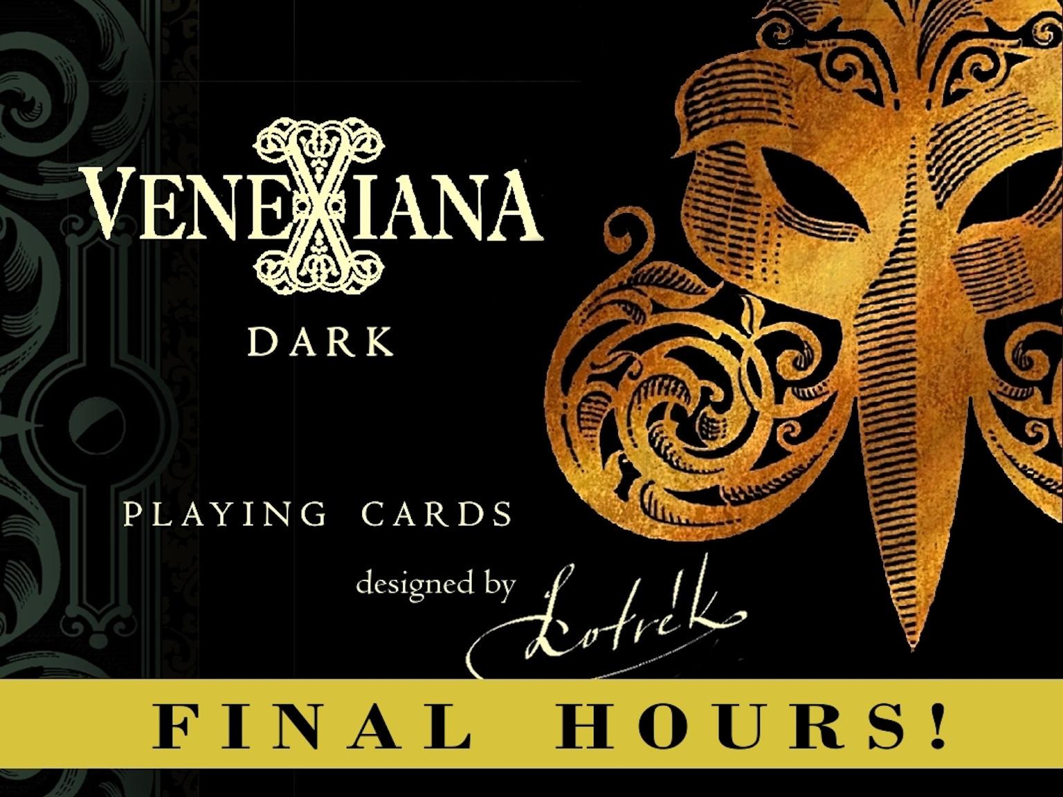 Venexiana Dark playing cards by Half Moon Playing Cards ...