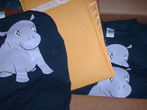 19dad2d6 Adorable Baby Hippo T-shirt by David Terry — Kickstarter
