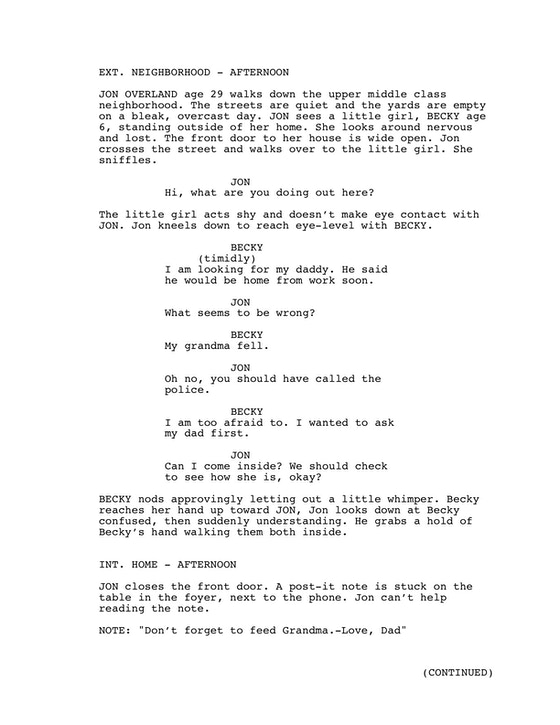 The Hometown: Preview by Nick Parsons » Script sample and
