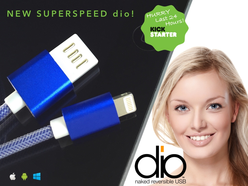 dio Naked Reversible USB Cables for Apple Lightning and Micro