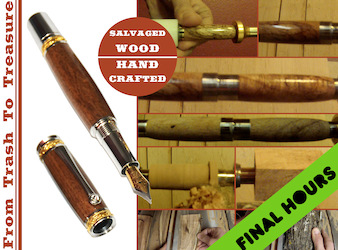 Handmade Pens from Salvaged Texas Wood