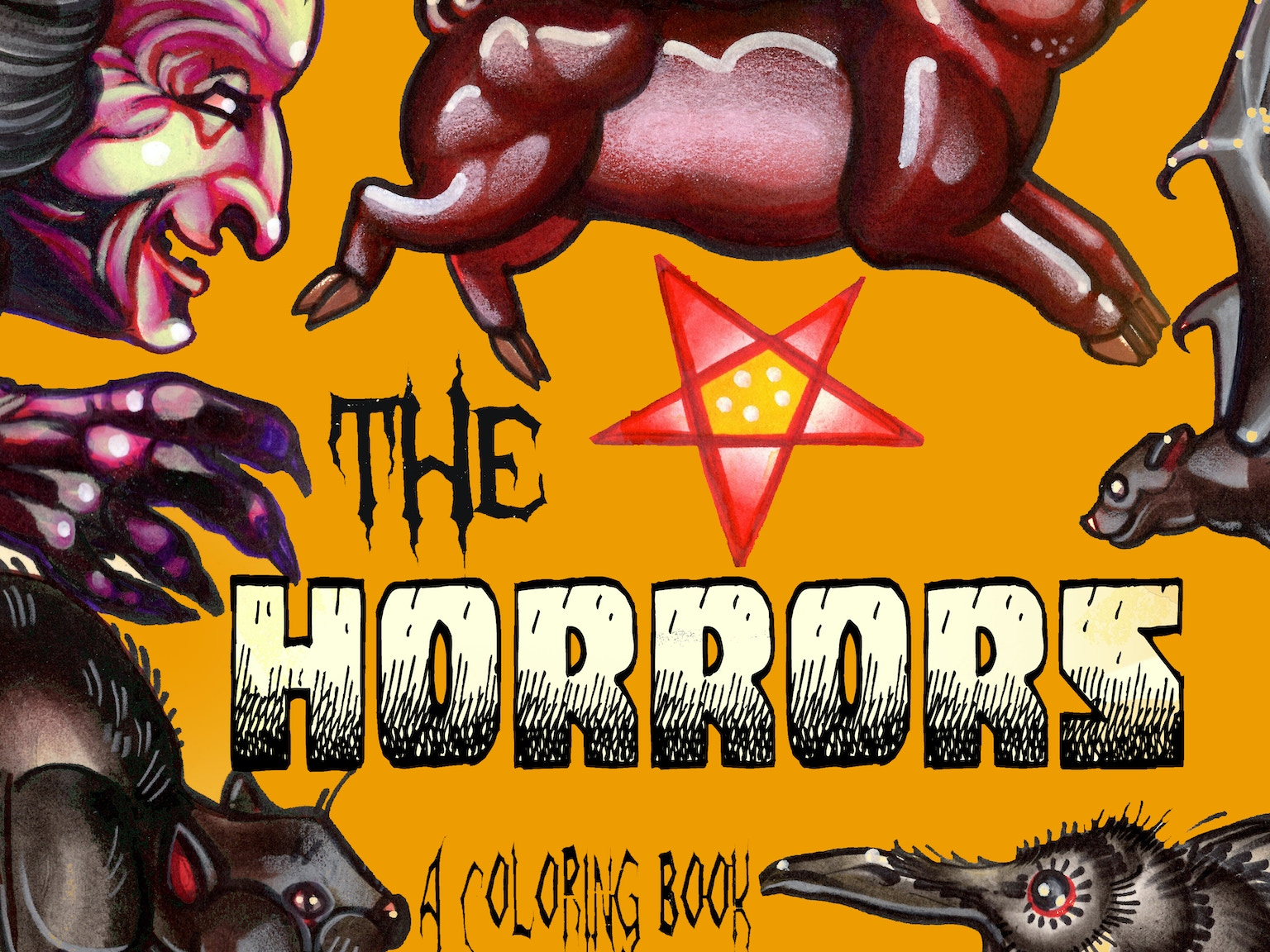 The Horrors: coloring book of cryptids, ghosts and ...