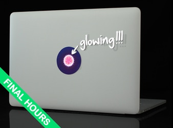 tabtag - glowing, removable and reusable MacBook stickers