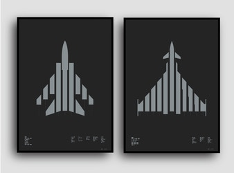 Graphic Aircraft Prints with Morse Code Typography
