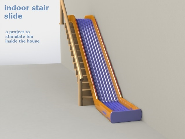 Lighting Basement Washroom Stairs: Indoor Stair Slide (Dutch Name : Trap Glijbaan) By Zeno